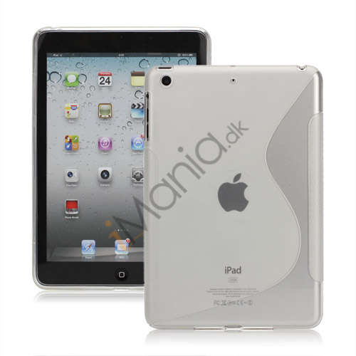 S Shaped TPU Gel Case Cover til iPad Mini - Transparent