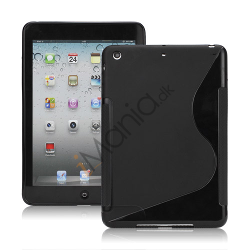 Streamline S Shaped TPU Gel Case Cover til iPad Mini - Sort