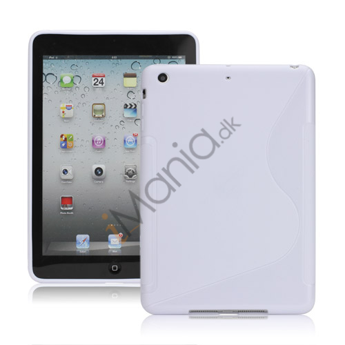 Streamline S Curve Gel TPU Case Cover til iPad Mini - Hvid