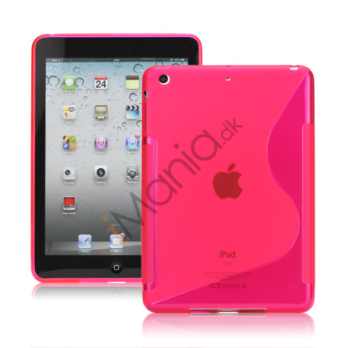 S-curved Gel TPU Case Cover til iPad Mini - Rose