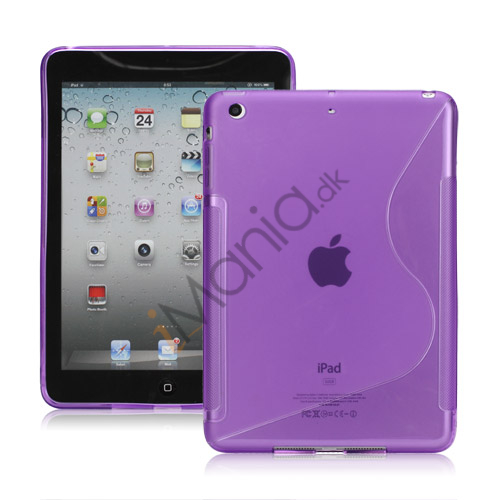 S-curved Gel TPU Case Cover til iPad Mini - Lilla