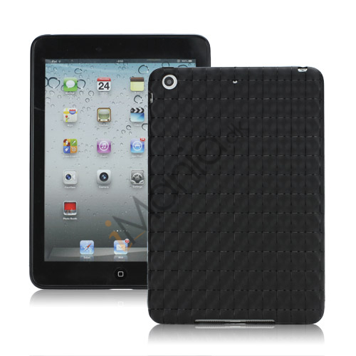 Image of   Anti-slip Water Cube Wave TPU Gel Case Cover til iPad Mini - Sort