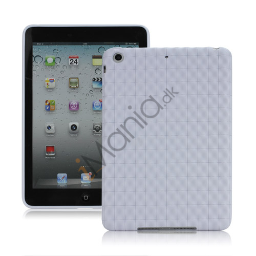 Image of   Anti-slip Water Cube Wave TPU Gel Case Cover til iPad Mini - Hvid