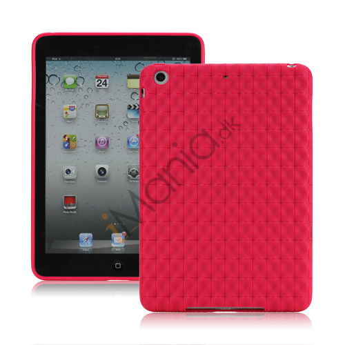 Billede af Anti-slip Water Cube Wave TPU Gel Case Cover til iPad Mini - Rose