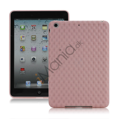 Image of   Anti-slip Water Cube Wave TPU Gel Case Cover til iPad Mini - Pink