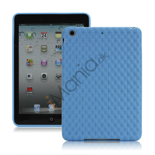 Image of   Anti-slip Water Cube Wave TPU Gel Case Cover til iPad Mini - Baby Blå