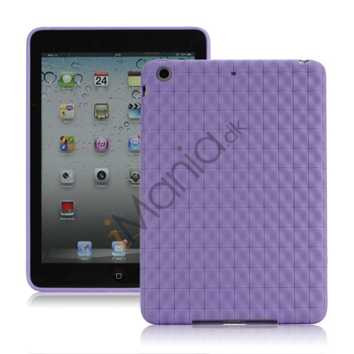 Image of   Anti-slip Water Cube Wave TPU Gel Case Cover til iPad Mini - Lilla