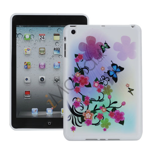 Image of   Beautiful Flowers and Butterflies TPU Gel Cover til iPad Mini