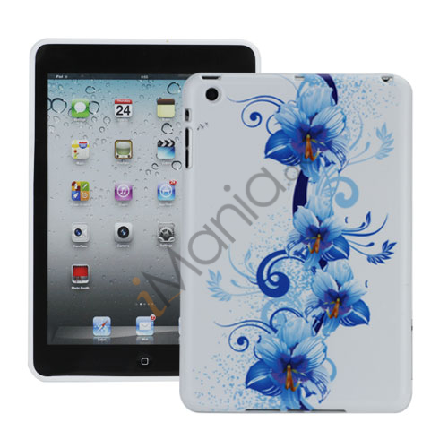 Image of   Artistic Blå Flowers Flexible TPU Gel Cover til iPad Mini