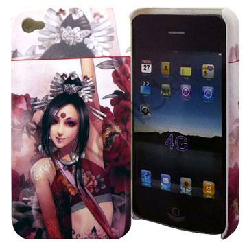 Image of   iPhone 4 cover med eksotisk pige
