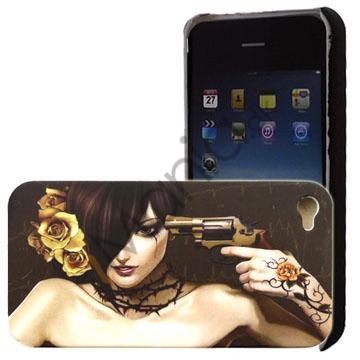 Image of   ïPhone 4 cover Pige med revolver