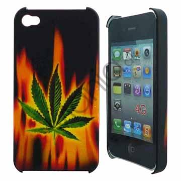 Image of   iPhone 4 cover med brændende blad