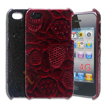 Image of   iPhone 4 / 4S cover med krokodilleskindslook