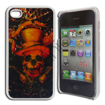 Image of   iPhone 4 / 4S cover, Skeletkriger med hat