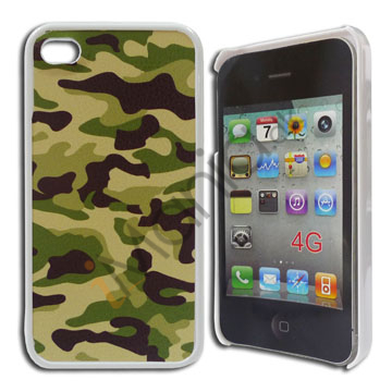 Image of   iPhone 4 / 4S cover Grønt / sort camouflagemønster