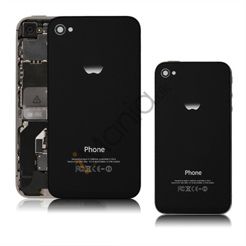 iPhone 4 bagcover (med logo), sort