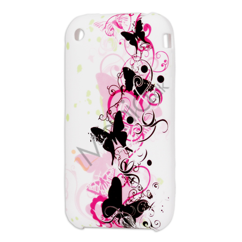 iPhone 3G 3GS TPU luxus cover med sommerfugle