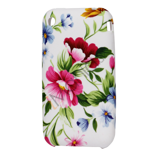 iPhone 3G 3GS TPU luxus cover med blomstermønster