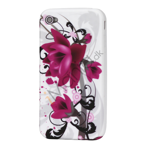 Image of   iPhone 4 Cover / 4S Cover med blomstermønster (TPU-gummi)