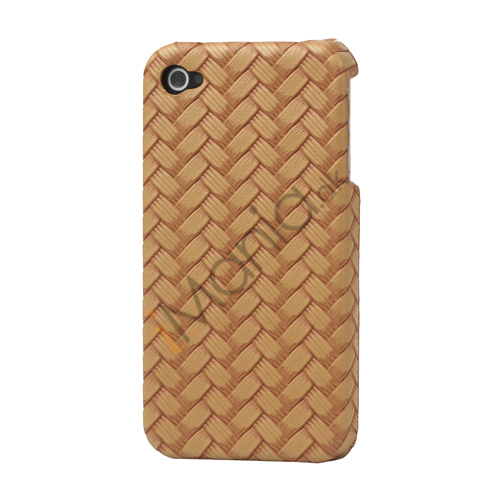 Image of   iPhone 4 cover med vævet mønster, lysebrun