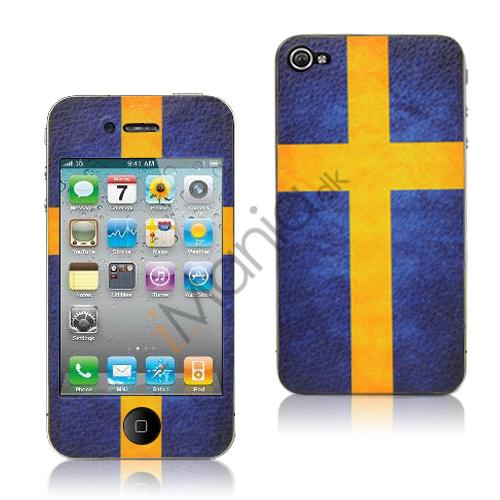 iPhone 4 skin med svensk flag