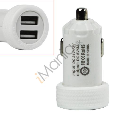 Dobbelt USB billader, hvid