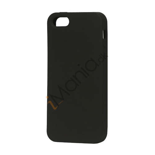 Image of   Blødt Silikone Case Cover til iPhone 5 - Sort