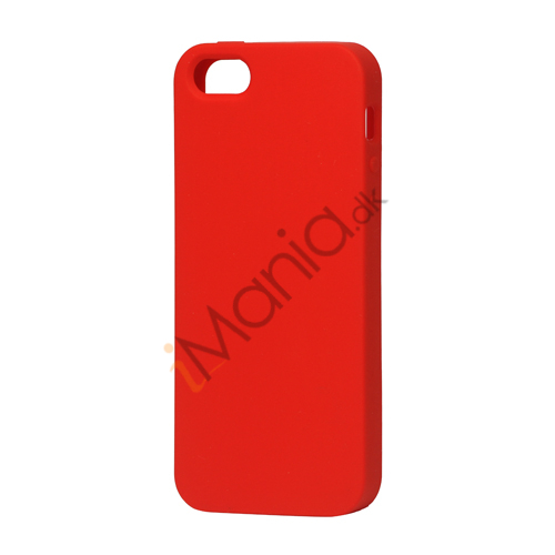 Image of   Blødt Silikone Case Cover til iPhone 5 - Rød