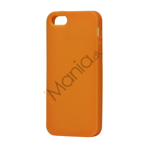 Blødt Silikone Case Cover til iPhone 5  - Orange