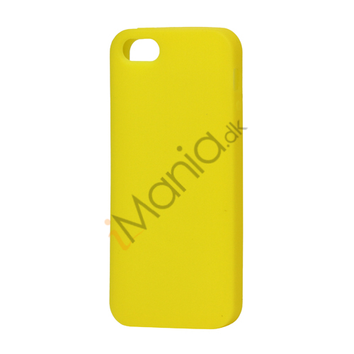 Image of   Blødt Silikone Case Cover til iPhone 5 - Gul
