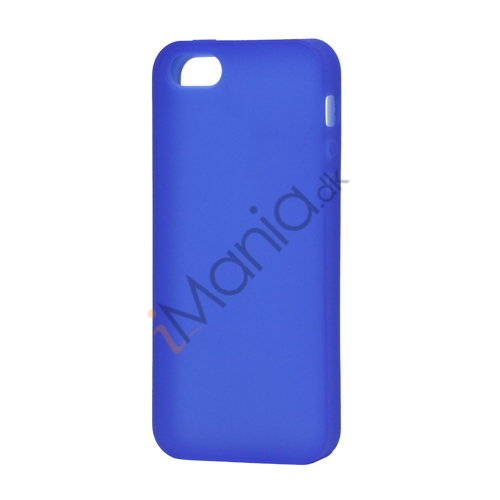 Image of   Blødt Silikone Case Cover til iPhone 5 - Mørkeblå