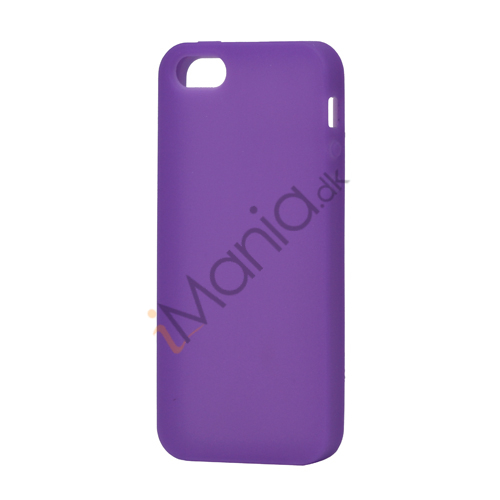 Image of   Blødt Silikone Case Cover til iPhone 5 - Lilla