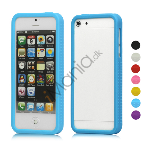 Anti-slip Silikone Ramme Bumper Case Cover til iPhone 5