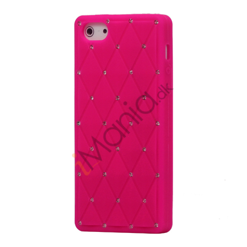 Image of   Glitter Smykkesten Indlagt Silikone Cover Case til iPhone 5 - Rose
