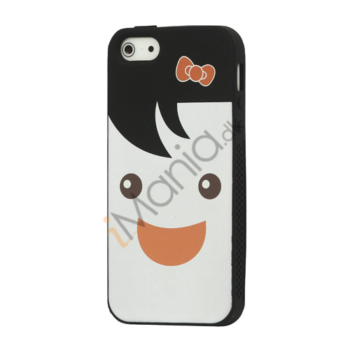 Image of   Blød Smilende Dukke Silikone Case iPhone 5 cover - Sort
