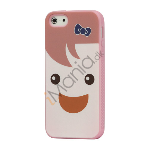 Image of   Smilende Dukke Fleksibel silikone Case iPhone 5 cover - Pink