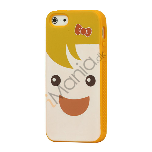 Image of   Blød Smilende Dukke iPhone 5 Silikone Taske Shell - Gul