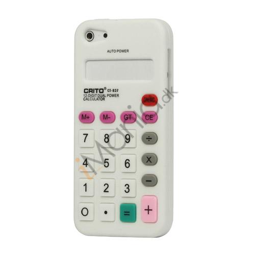 Billede af 3D Lommeregner Silikone Cover Case til iPhone 5 - Hvid
