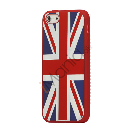 Billede af Union Jack UK Flag Silikone Case iPhone 5 cover