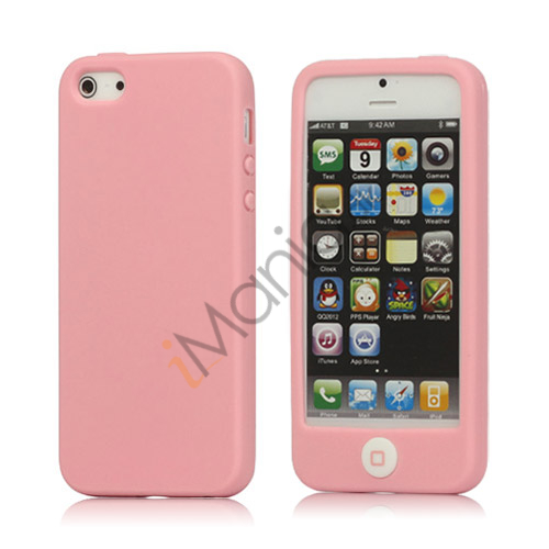 Image of   Jellybean Home Knap Silikone Cover Case til iPhone 5 - Pink