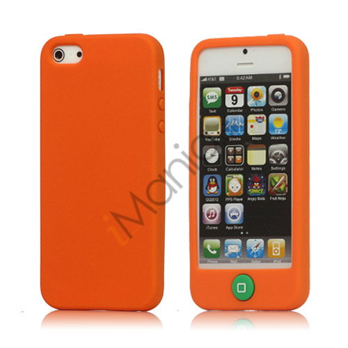 Image of   Jellybean Home Knap Silikone Case iPhone 5 cover - Orange