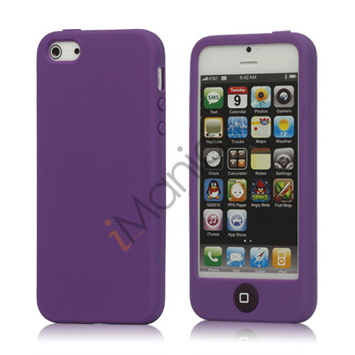 Image of   Jellybean Home Knap Silikone Case iPhone 5 cover - Lilla