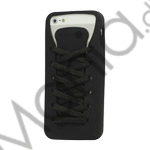 Image of   Sporty Snørebånd Silikone Case iPhone 5 cover - Sort