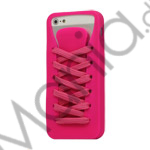 Image of   Sporty Snørebånd Silikone Case iPhone 5 cover - Rose