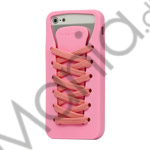Image of   Sporty snørebånd Silikone Case iPhone 5 cover - Pink