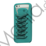 Image of   Sporty Snørebånd Silikone Case iPhone 5 cover - Cyan