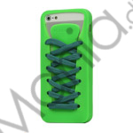 Image of   Sporty Snørebånd Silikone Case iPhone 5 cover - Grøn