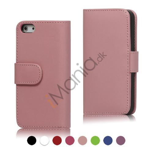 PU Læder Folding Tegnebog Kreditkort Taske til iPhone 5