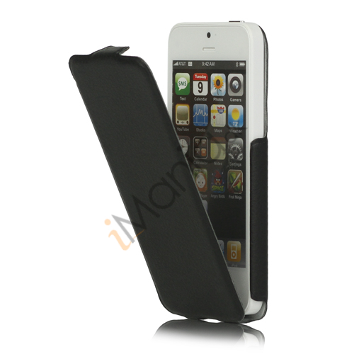 Image of   Lodret PU Læder Cover Case til iPhone 5