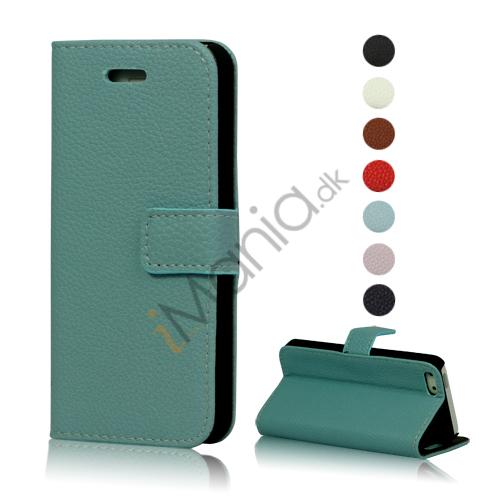 Image of   Magnetisk Litchi læder tegnebog Case Cover med indbygget Stand til iPhone 5
